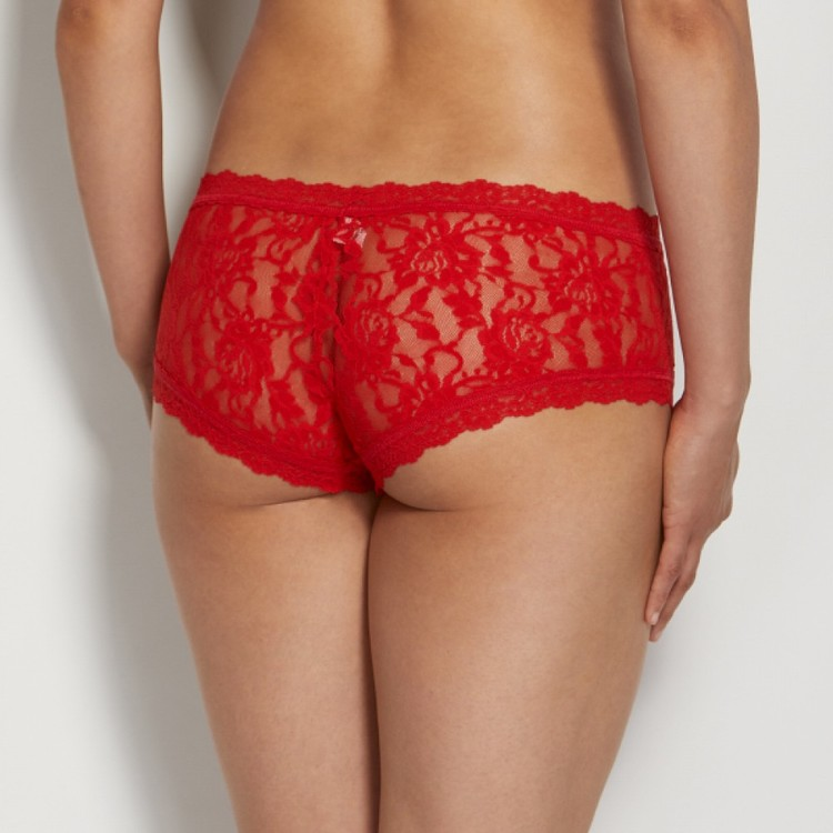 Signature Lace Boyshort Red- Hanky Panky