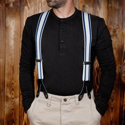 Hängslen 1937 Heavy Duty Braces blue - Pike Brother