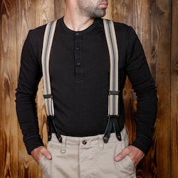 Hängslen 1937 Heavy Duty Braces brown - Pike Brother