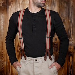 Hängslen 1937 Heavy Duty Braces red - Pike Brother