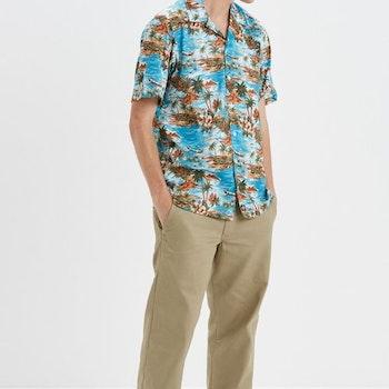 Skjorta Blossvale kortärm Hawaii Ocean -  Dickies