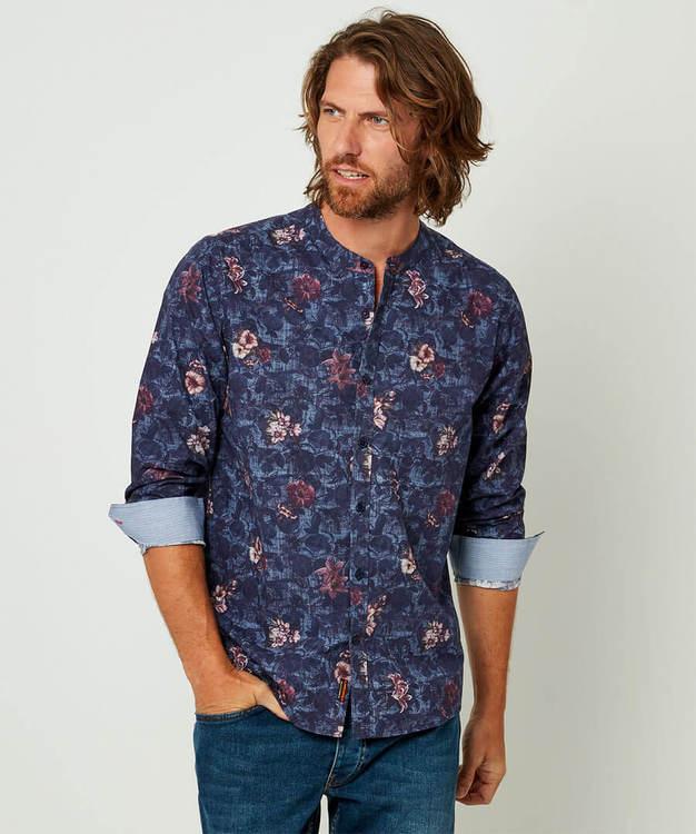 Skjorta Floral Grandad Shirt - Joe Browns