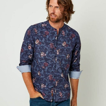 Skjorta Floral Grandad Shirt - Joe Browns