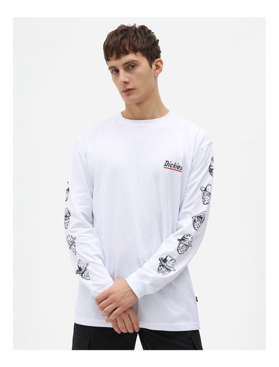 T-shirt Långärm Federal Dam White - Dickies