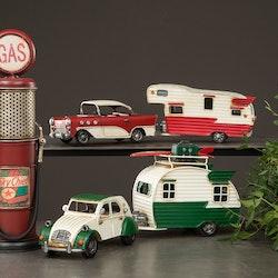 Bil och Husvagn Chevy Metall röd