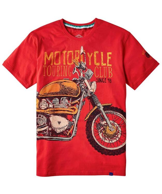 T-shirt Motorcykle Club Red - Joe Browns