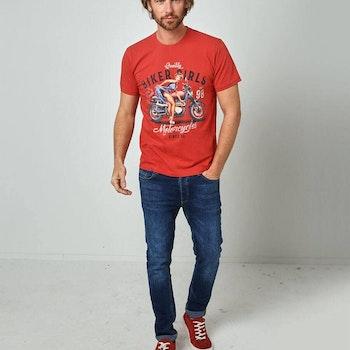 T-shirt Biker Girl Red - Joe Browns