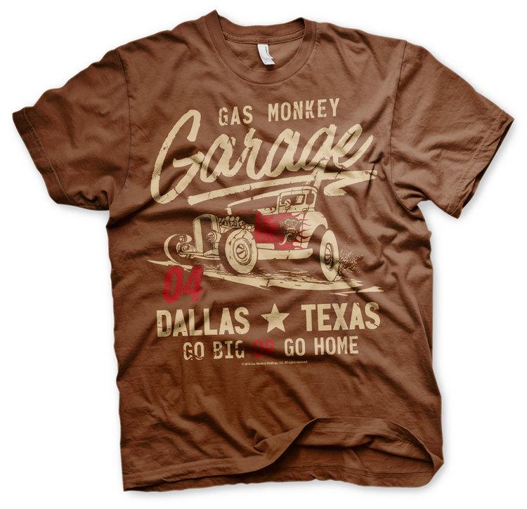 T-shirt Go Big Or Go Home -  Gas Monkey Garage