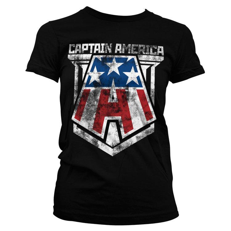 T-shirt Distressed - Captain America