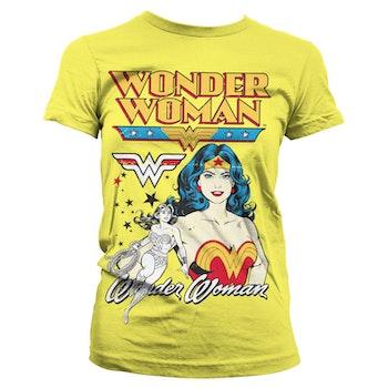 T-shirt Posing yellow - Wonder Woman