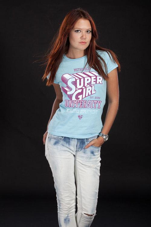 T-shirt Athletics Dept - Supergirl