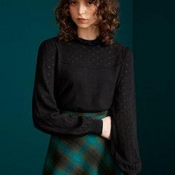 Stickat Izu Sweater Heart Ajour Black - King Louie