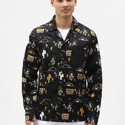 Skjorta Bettles AOP LS Black - Dickies