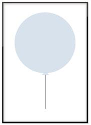 Blå ballong 50%