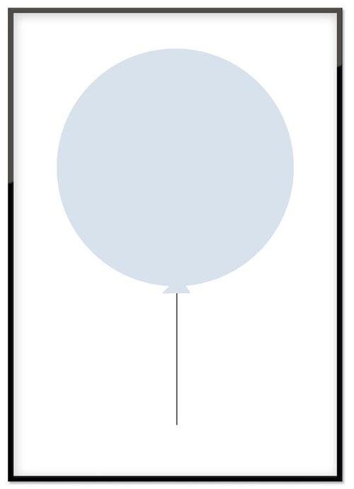 Blå ballong
