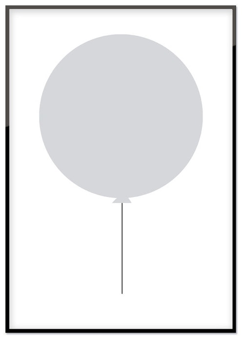 Grå ballong