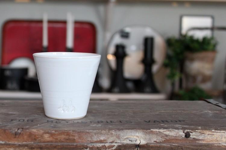 Liten kaffekopp - Vit