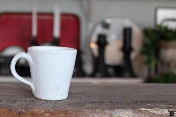 Espressokopp - Vit