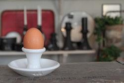 Äggkopp/Ljusstake - Vit