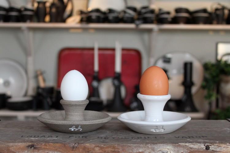 Äggkopp/Ljusstake - Svart