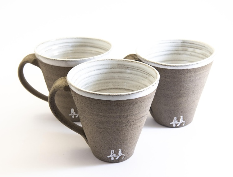 Kaffekopp granit lera