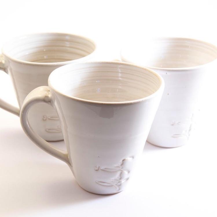 Vitglaserad kaffekopp