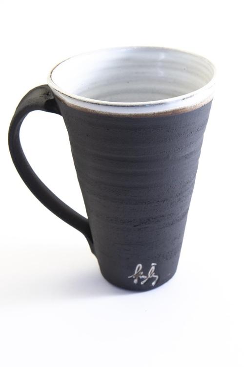 Hög kaffekopp - Svart