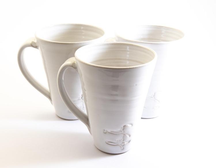 Hög kaffekopp - Vit