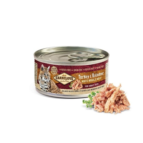 Carnilove White Muscle Meat Turkey & Reindeer, 100g
