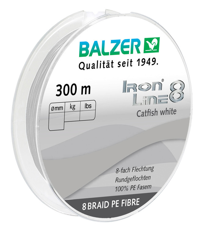 Iron Line 8 Catfish White 300M (Rek.Pris 499kr)