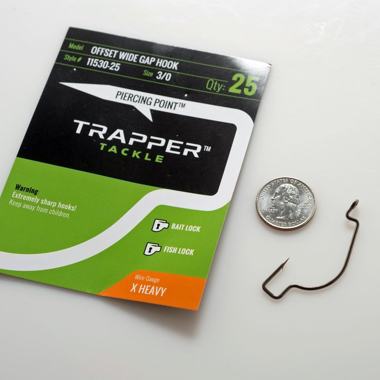 Trapper Hooks Offset Wide Gap Hook – X Heavy Gauge