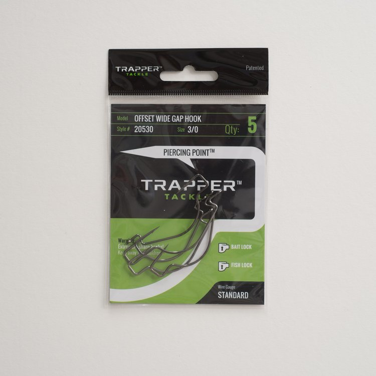 Trapper Hooks Offset Wide Gap Hook - Standard Gauge