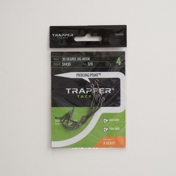 Trapper Hooks 30 Degree Jig Hook
