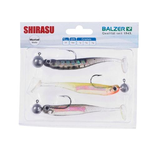 Shirasu Holo Yoko Shad Set, 10cm