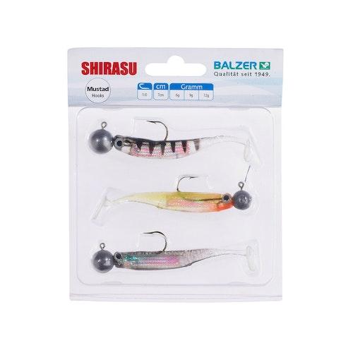 Shirasu Holo Yoko Shad Set, 7cm