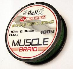 Muscle flätlina (4 trådig) sinking combo braid