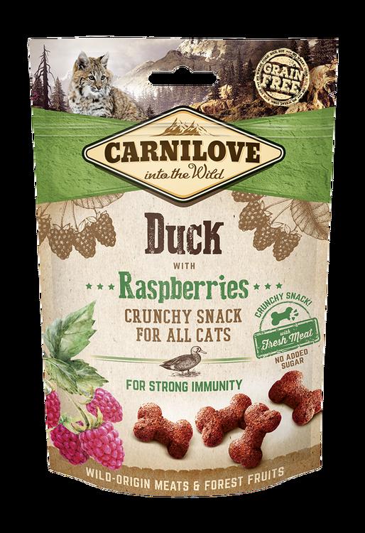 Carnilove CAT Crunchy Snack Duck & Raspberries, 50g
