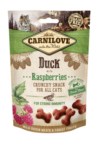 Carnilove CAT Crunchy Snack Duck & Raspberries, 50g