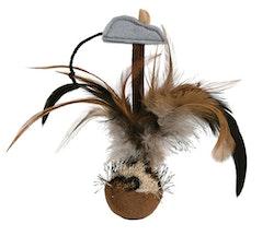 Trixie Kattleksak Fjäderboll Squieky