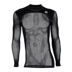 Loop tröja underställ CREW NECK NET (svart)