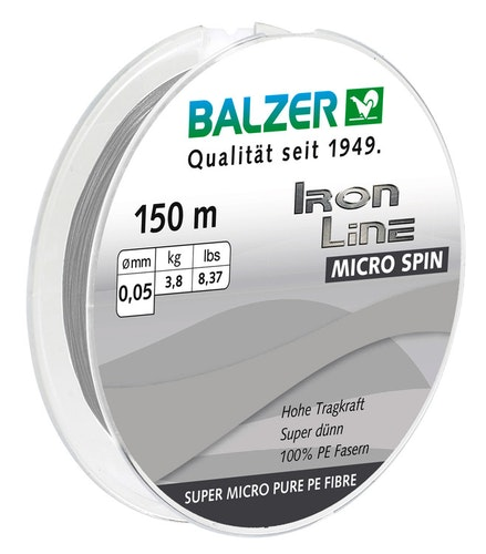 Iron Line Micro Spinn 150M, 0,05 mm