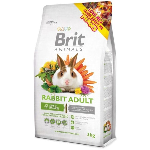 Kaninfoder adult Brit Animals 3 kg