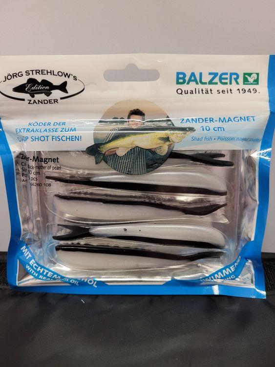 Drop shot Zander-Magnet Black mother of pearl 10 cm 5-pack