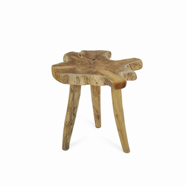 RAW Sidobord / Pall i trä