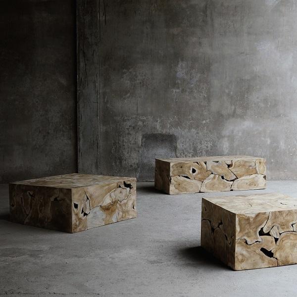 ROOT soffbord teakrot 80x80 cm