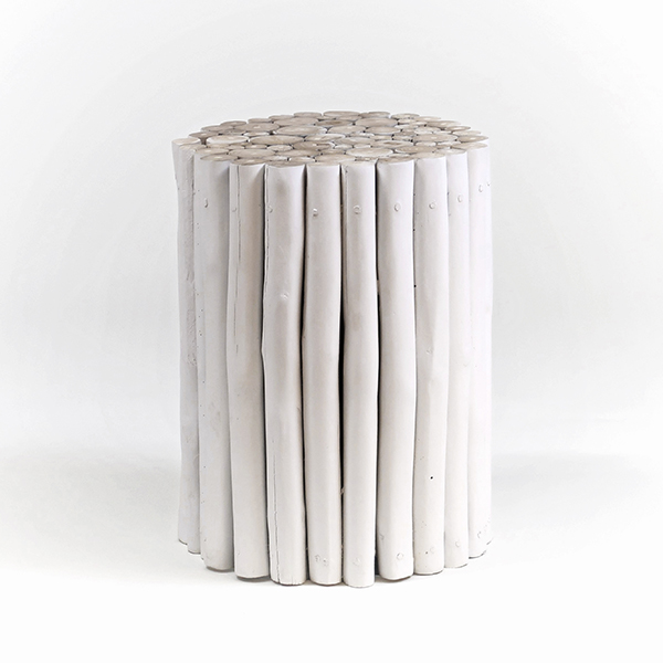WOOD sidobord av trägrenar vit