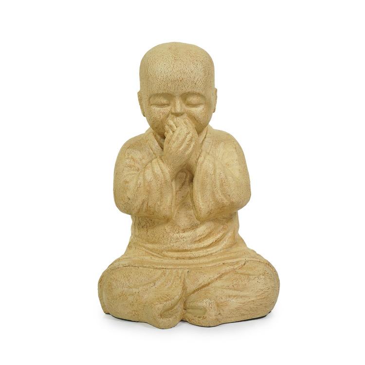 Skulptur shaolinmunk av terrkotta