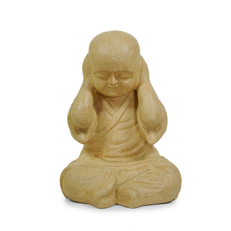 Terrakottaskulptur i form av shaolinmunk