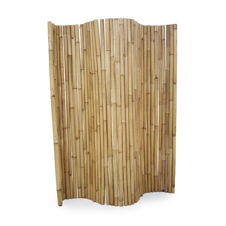 Naturfärgad bambuvägg rumsavskiljare
