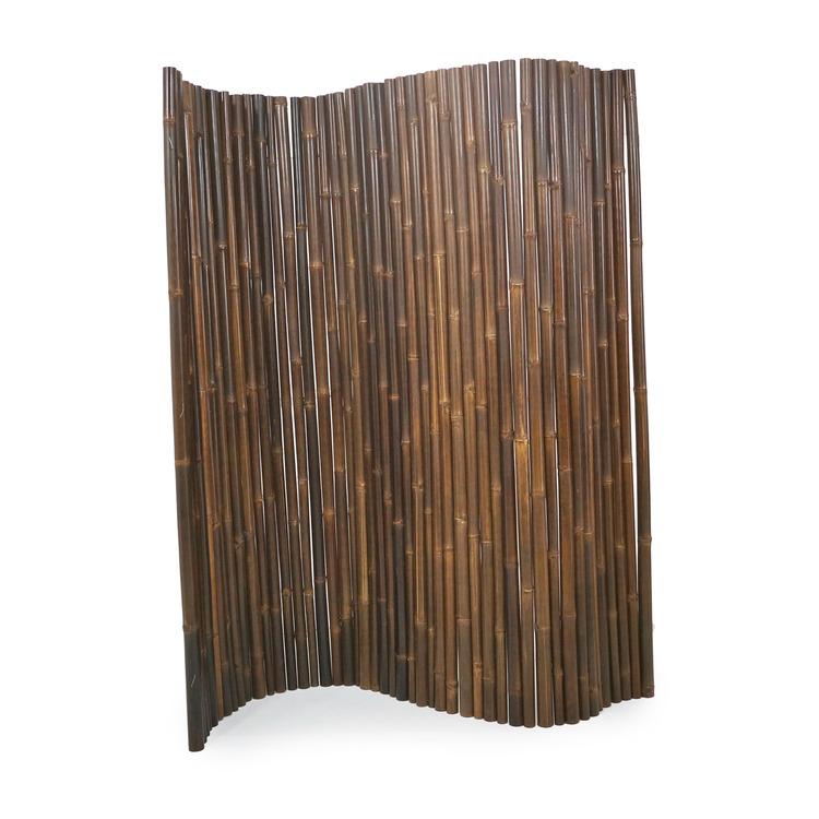 JAVA Bambuvägg Avskiljare Svart Bambu